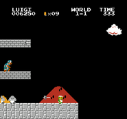 Luigi rescue Mario (SMB Hack) 002