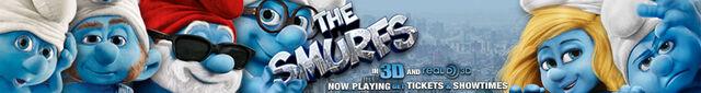 File:Smurfs jumbo now playing.jpg
