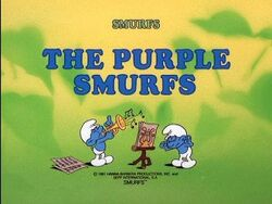 Purple smurfs title