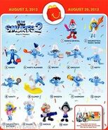 The Smurfs 2 happy meal