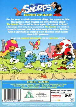 Smurfs Complete Second Season DVD back cover