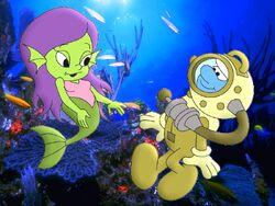 Handy And Marina Underwater
