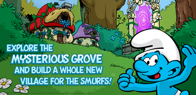 File:Explore the misterious grove and built a whole new village for the smurfs!.png