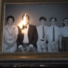 Quigley in a family portrait in the TV series.