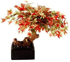 Artificial Japanese Maple Bonsai Tree - Small MED