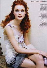 Jessica Stam in Vogue June 2004