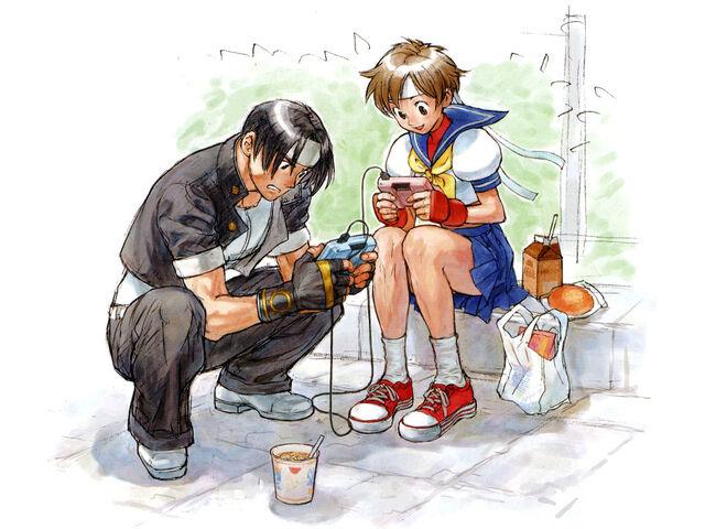 File:Kyo and Sakura.jpeg