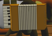 Dashing Moustache Tails' accordion