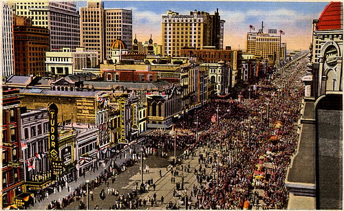 File:Mardi Gras on Canal Street postcard with Tudor Theater.jpg