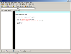 Dev-C++ screenshot