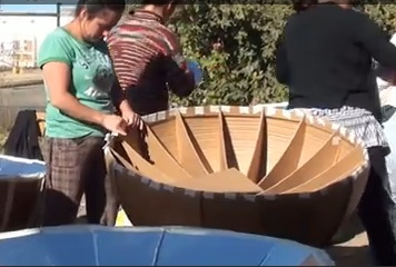 File:Recycled Cardboard Solar Cooker manufacturing.jpg