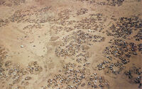 Iridimi refugee camp from air