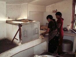 Barli Institute students in the Scheffler kitchen.jpg