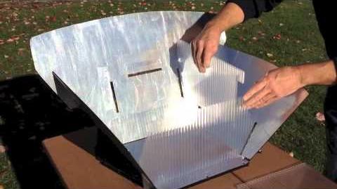 Panel-Box Solar Cooker