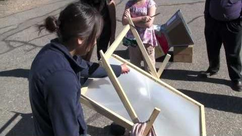 Navajo Students Native Sun Fresnel Solar Cooker