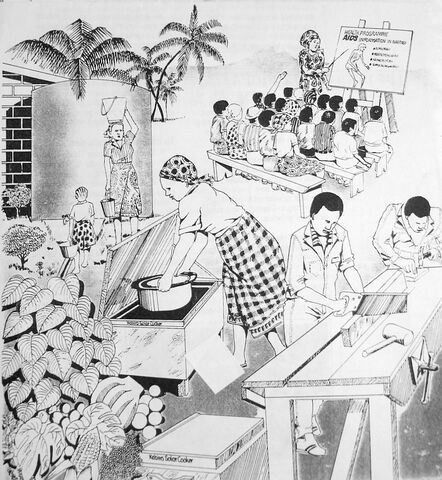 File:Solar cooking integrated into village life.JPG