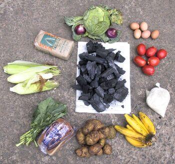 Food versus charcoal