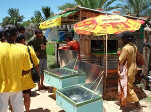 ADES - Solar cookers solar at market - March 2008