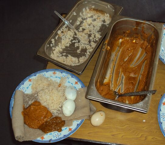 File:Solar cooked food.JPG