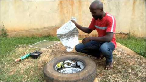 Solar Tyre Oven for under $5 - How to make a cheap solar cooker - Tire Oven