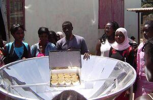 EG Solar parabolic cooker, 5-5-13