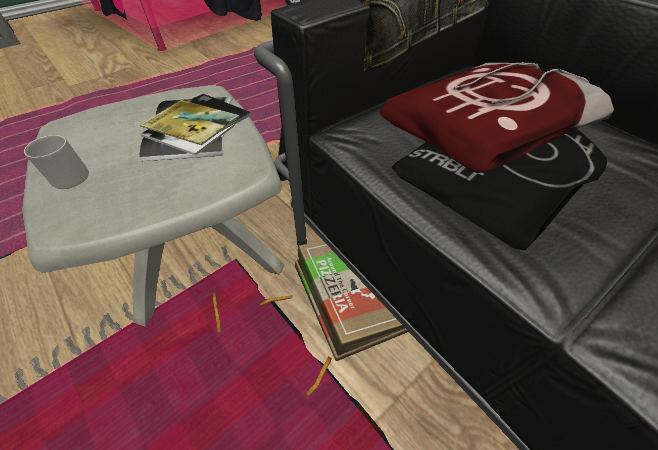 image - apartment - couch pizza | soma wiki | fandom powered