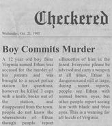 Ethan murder spree paper