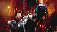 Talion takes Orthog's head