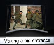 Making a big entrance slide