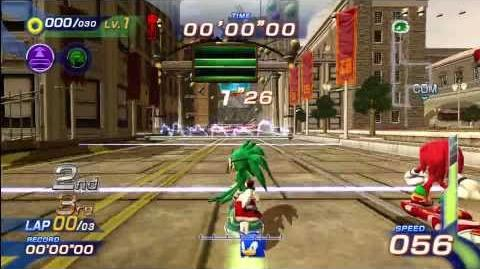 Sonic Free Riders Metropolis Speedway (Expert Free Race) 1080 HD