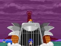 Sonic captured by Robotnik