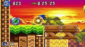 Sonic Advance 3 - Zone 2 Sunset Hill - Act 1 2 3 & VS Boss
