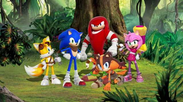 File:Sonic, Tails, Knuckles, Amy and Sticks.png