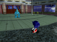 Sonic facing Chaos 0