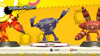 Egg Fighter Statue room