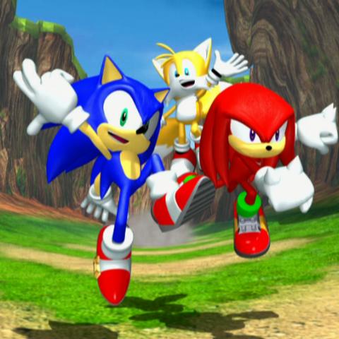 La segunda y última pose de victoria del Team Sonic al final de <i><a href=