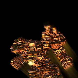 El Gaia Colossus volando.
