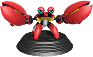 Sonic Generations Crabmeat Statue