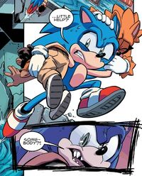 Sonic Rescuing Citizens