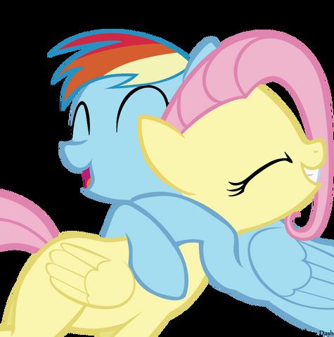 File:Dash hugs fluttershy.png