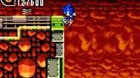 Sonic Advance 2 (GBA) Hot Crater Zone