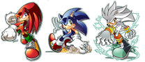 Knux Sonic Silver by herms85