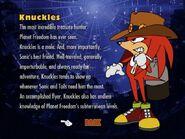 Knuckles the echina and mole ova