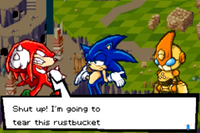 Knuckles Meeting Emerl