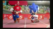 Mario and Sonic competing