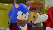 Sonic roasting Eggman