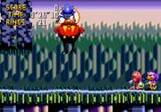 Knuckles and Espio Seeing Eggman escape