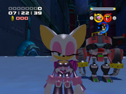 Rouge winks (Sonic Heroes)