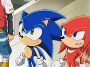 Sonic X Station Break In Knuckles Sonic
