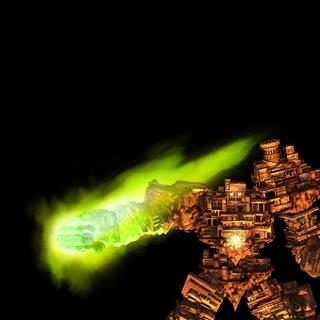 El Gaia Colossus atacando.